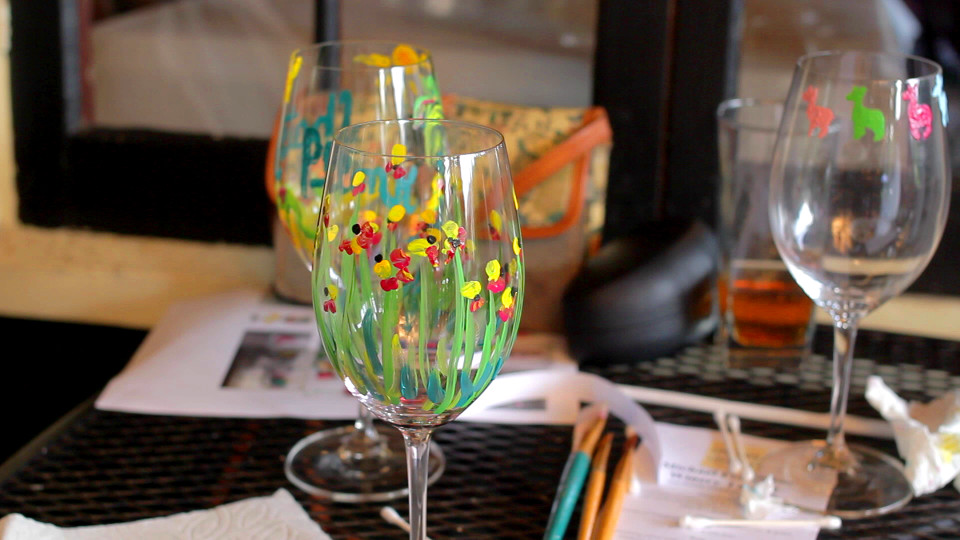 The Spot: Glass Painting at Uncork & Unwind